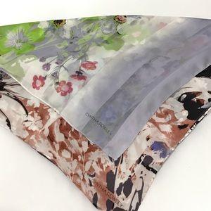 Cynthia Rowley Silk Floral Oblong Scarf Bundle